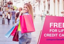 Credit cards free for life