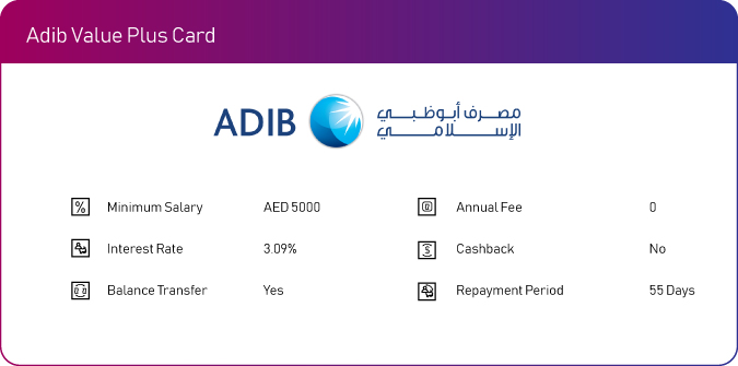 adib no fee annual