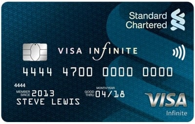 standard chartered air miles