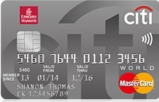 Emirates Citi Bank World Credit Card