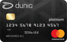 Dunia Finance Platinum Credit Card