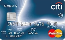 Citi Bank Simplicity Credit Card