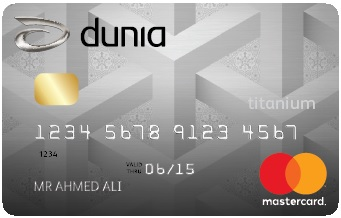 Dunia Finance Titanium Credit Card